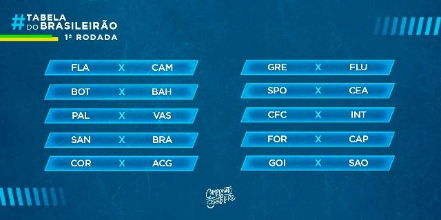 Cbf Divulga Tabela De Jogos Do Brasileirao Serie A 2020 Jeremoabo Com